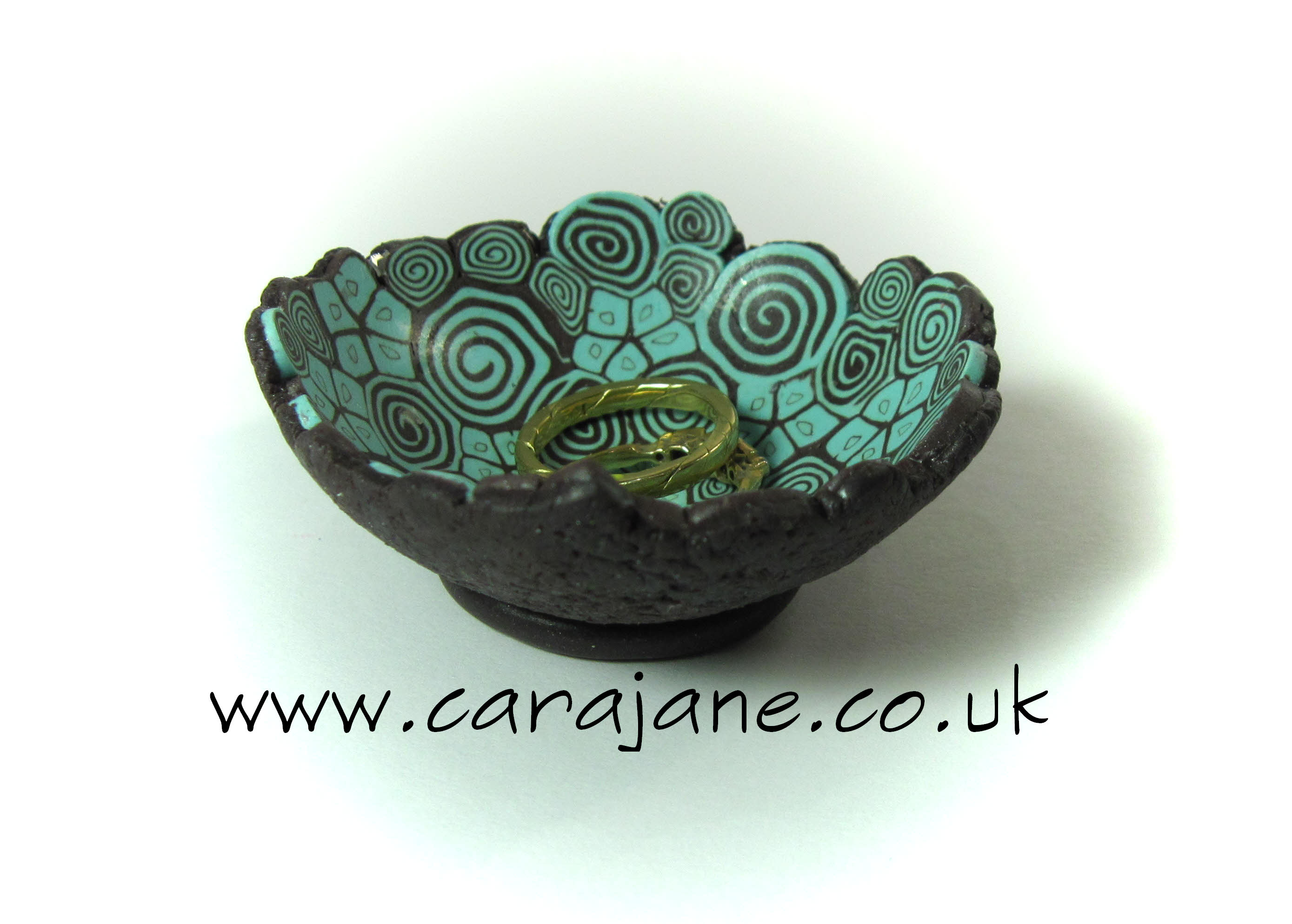Polymer clay patterned Ring bowl