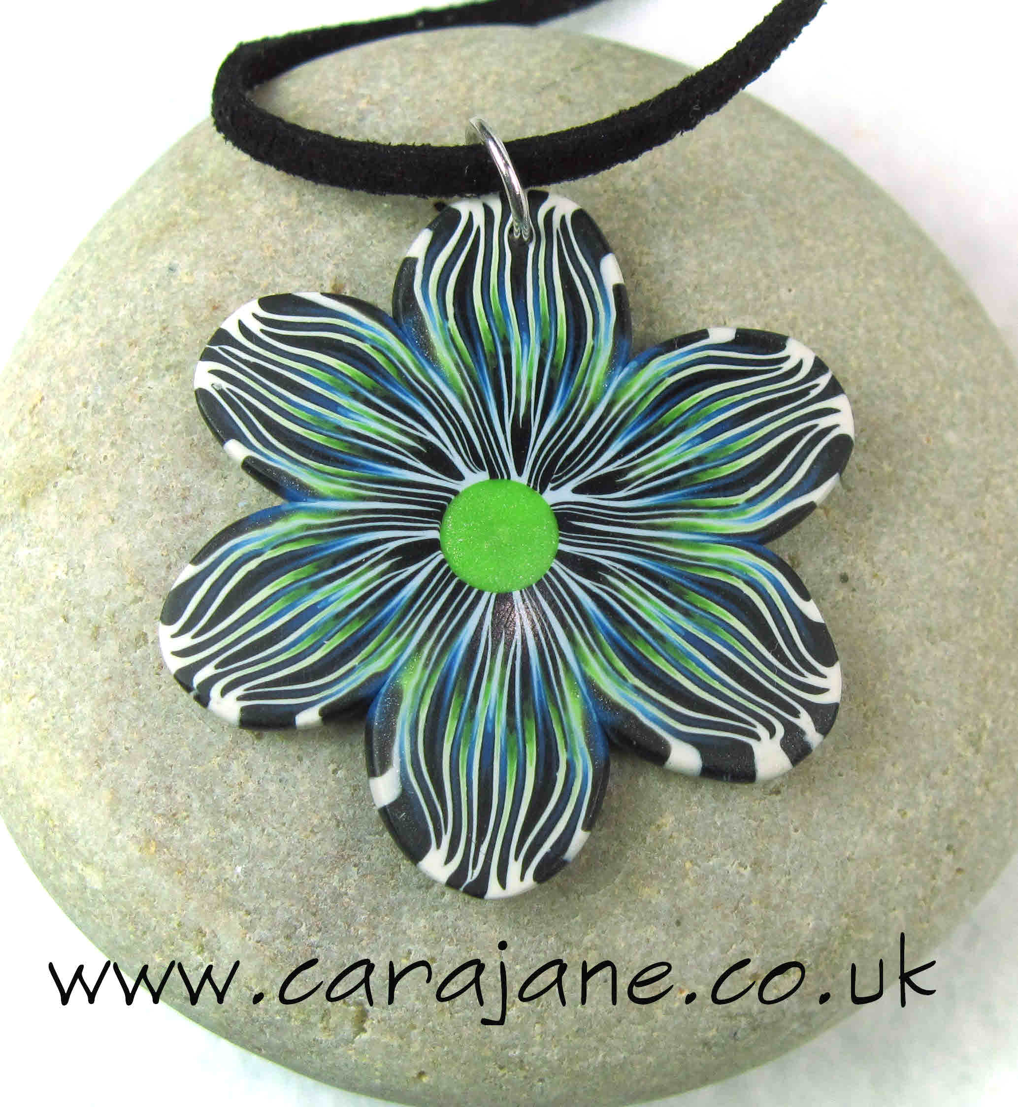 patterned flower pendant