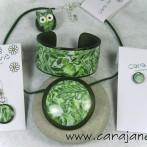 Green Mokume Gane Set