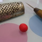 how to texture polymer beads