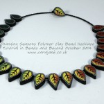 Cara Jane Changing Season Polymer Clay Necklace Tutorial from Beads and Beyond OCtober 2014