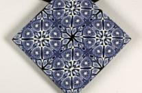 Blue and White Kaleidoscope Pendant