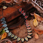 Changing Seasons Polymer Clay Beaded Necklace Tutorial in Beads and Beyond October 2014