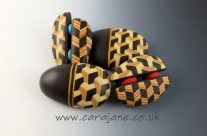 New Faux Marquetry Brooches