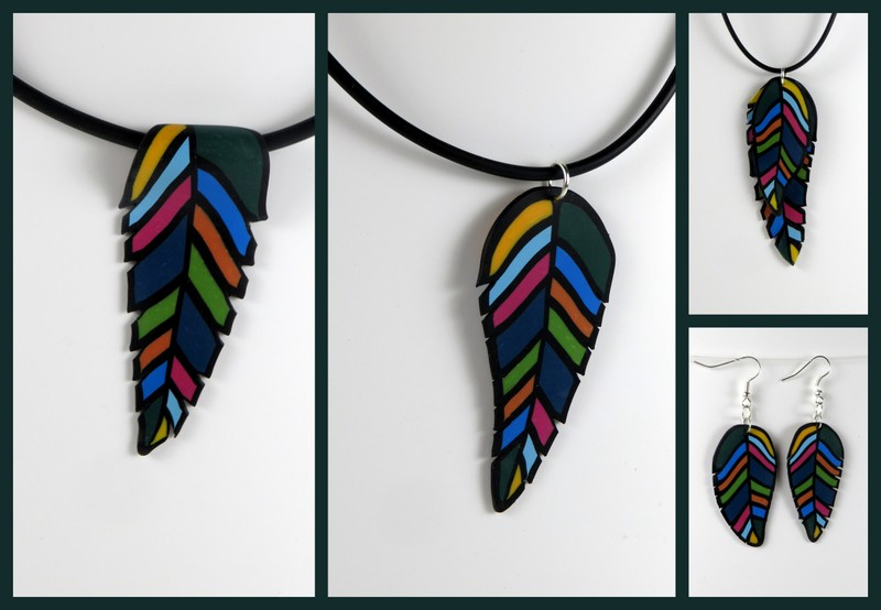 Cara Jane Polymer Clay Pantone Feather Project for Jewellery Maker TV