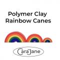 Polymer Clay Rainbow Canes - rainbows made from a bullseye cane.